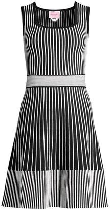 Kate Spade Striped Rib-Knit Sweater Dress