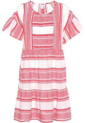 Velvet Striped cotton dress