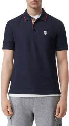Burberry Men's Tipped Polo Shirt w/ Icon Stripe Placket