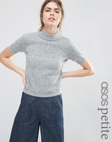 Asos Knitted Tee With High Neck