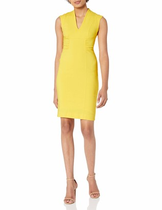 Laundry by Shelli Segal Women's Twill V-Neck Dress