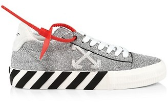 Off-White Arrow Low-Top Glitter Leather Sneakers