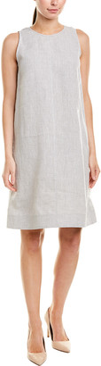 Lafayette 148 New York Hana Linen Shift Dress