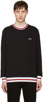 Givenchy Black Contrast Collar Sweatshirt