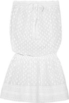 Melissa Odabash Adela smocked embroidered georgette coverup