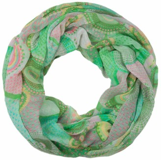 styleBREAKER ethno design loop tube scarf with colorful circles and dots 01016012
