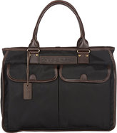 Felisi Men's Leather-Trim Tote-BLACK