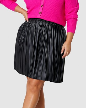 Sunday In The City - Women's Black Leather skirts - Rapture PU Mini Skirt - Size One Size, 12 at The Iconic