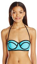 Hobie Women's Tie Dye For Solids Underwire Bra Bikini Top