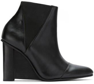 Studio Chofakian leather wedge boots