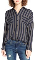 BP Women's Stripe Button Front Shirt