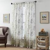 Fall Foliage Crushed Voile Window Curtain