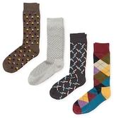 Happy Socks Instarsia Cotton Socks (4 PK)
