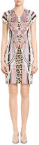 Just Cavalli Printed Jersey Sheath Dress