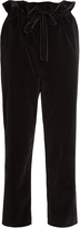 Isa Arfen Straight leg cotton-blend velvet trousers