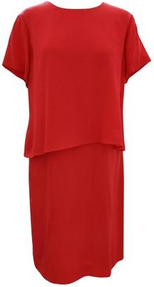 HUGO BOSS Orange Silk Dresses