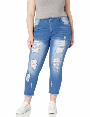 Cover Girl Women's Torn Size Skinny Jeans