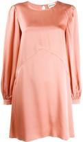 Semi-Couture Semicouture flared satin dress