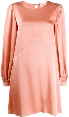 Semi-Couture Flared Satin Dress