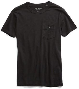 Todd Snyder Made in L.A. Slub Jersey Pocket T-Shirt in Black