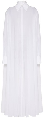 Valentino Cotton Maxi Shirt Dress