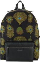 Alexander McQueen peacock weave backpack