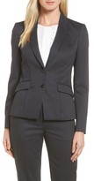 BOSS Petite Women's Jukani Check Wool Blend Suit Jacket