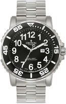 Croton Mens Black Stainless Steel Sport Watch