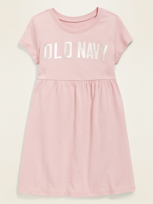 Old Navy Logo-Graphic Fit & Flare T-Shirt Dress for Toddler Girls