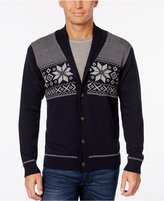 Weatherproof Men's Snowflake Cardigan, Classic Fit