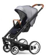 Mutsy Igo Urban Nomad Stroller in Black/White & Blue