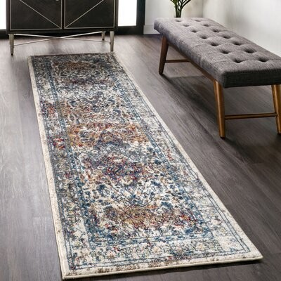 Bloomsbury Market Aquille Power Loom Red Blue Rug Shopstyle