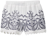 My Michelle mymichelle Embroidered Short with Crochet Trim (Big Girls)