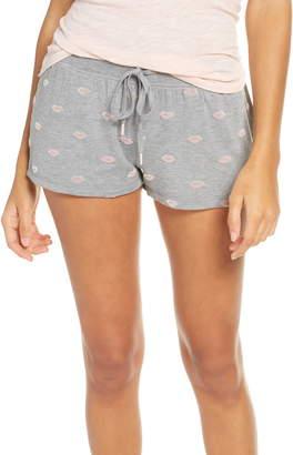 PJ Salvage Lip Print Pajama Shorts