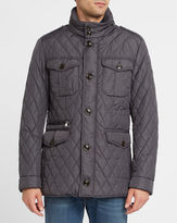 Hackett Navy Holborn Thermo Insulation Zipped Multi-Pockets Quilted Parka
