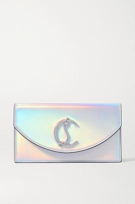 Christian Louboutin Loubi54 Iridescent Leather Clutch - Silver