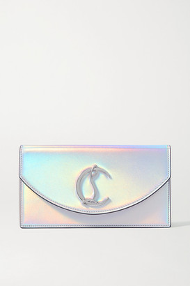 Christian Louboutin Loubi54 Iridescent Leather Clutch