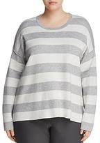 Eileen Fisher Plus Reversible Stripe Top