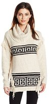 Kensie Women's Fuzzy Mixed-Media Sweater