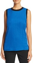 DKNY Quilted Stretch Silk Top