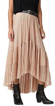 AllSaints Aubrey Polka Dot High/Low Skirt