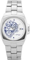 Ed Hardy Kool Steel Men's Analog Watch Color: Silver