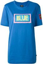 Fendi Blue print T-shirt - women - Cotton - 50