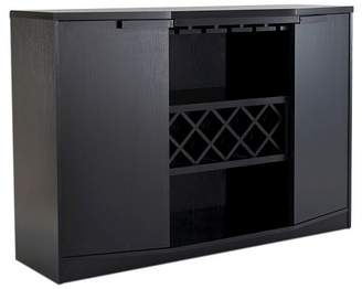 HOMES: Inside + Out Rosio Transitional Criss Cross Wine Storage Dining Buffet - Furniture of America
