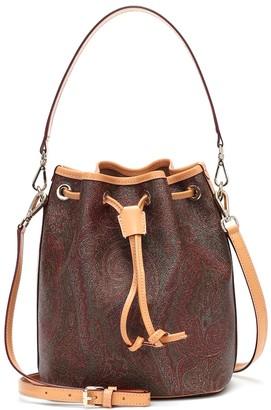 Etro Paisley jacquard bucket bag