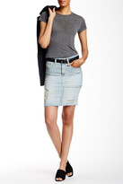 AG Jeans Erin Distressed Pencil Skirt