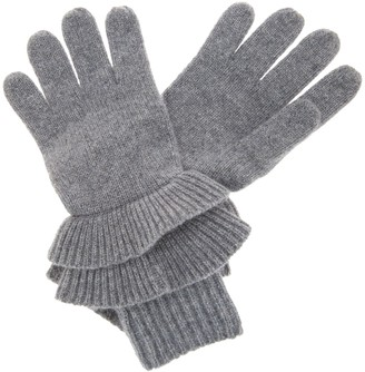Isaac Mizrahi Live! 2-Ply Cashmere Ruffle Gloves