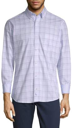 Tailorbyrd Barber Long-Sleeve Cotton Button-Down Shirt