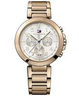 Tommy Hilfiger Rose Gold-tone Stainless Steel Silver Dial Ladies Watch 1781452
