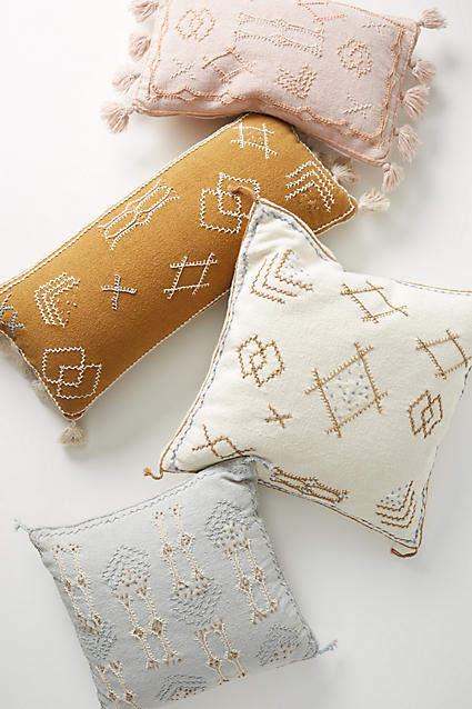 Joanna Gaines For Anthropologie Joanna Gaines for Anthropologie Embroidered Sadie Pillow
